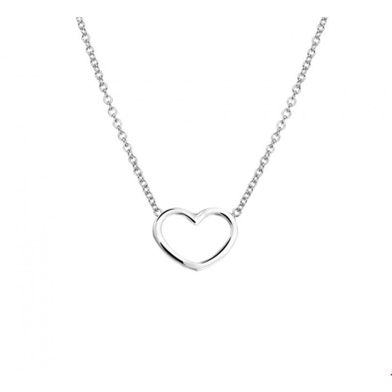 Betere Zilveren anker ketting hartje 46 cm met 12x9 mm   Mostert Juweliers UT-01