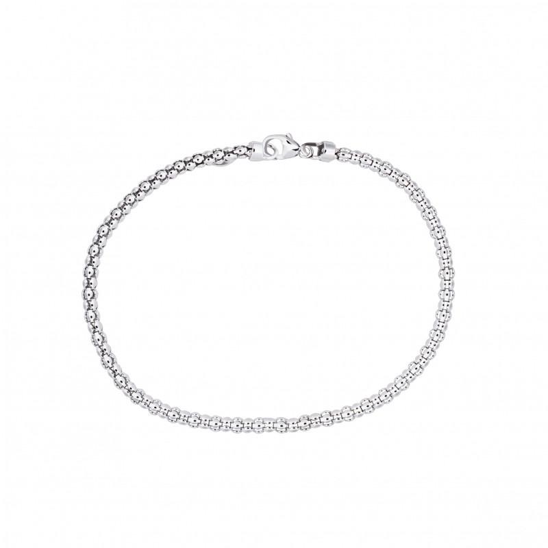 Zilveren damesarmband met bolletjes schakels