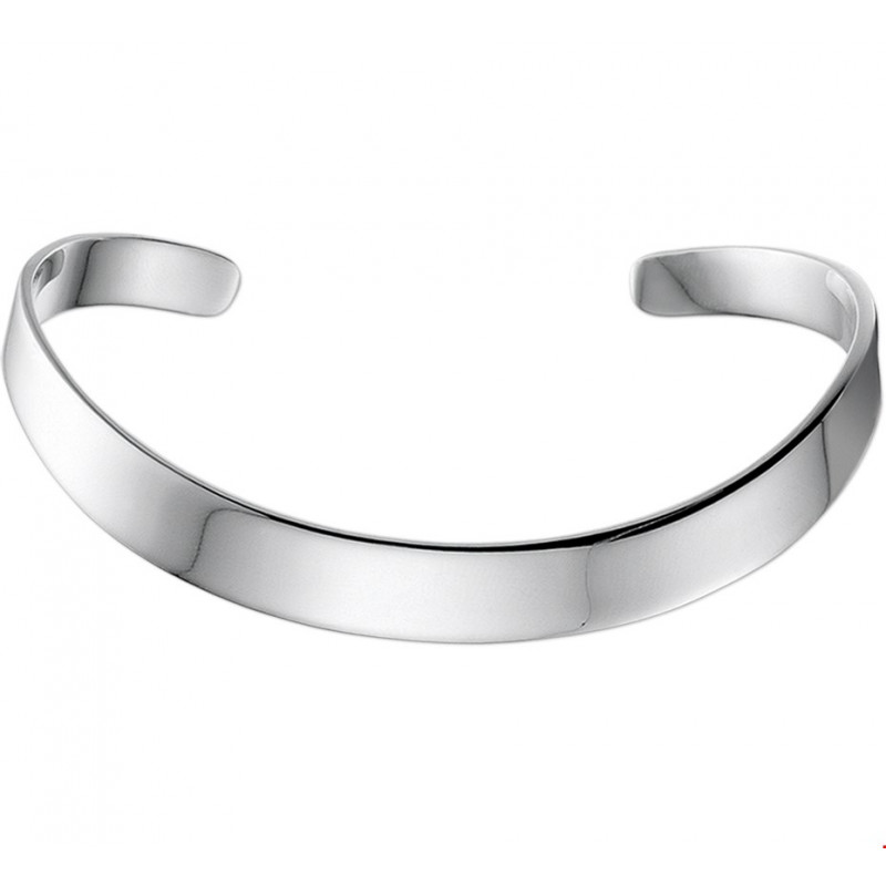 Zilveren spang klemarmband 7 mm