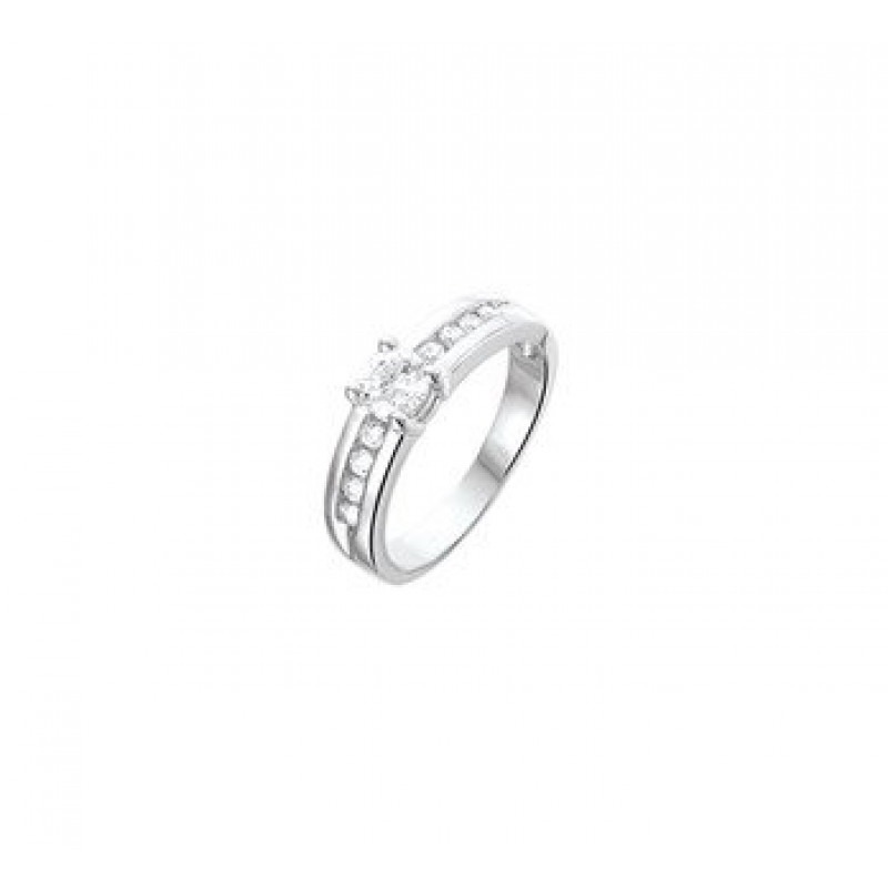 Mode ring zilver