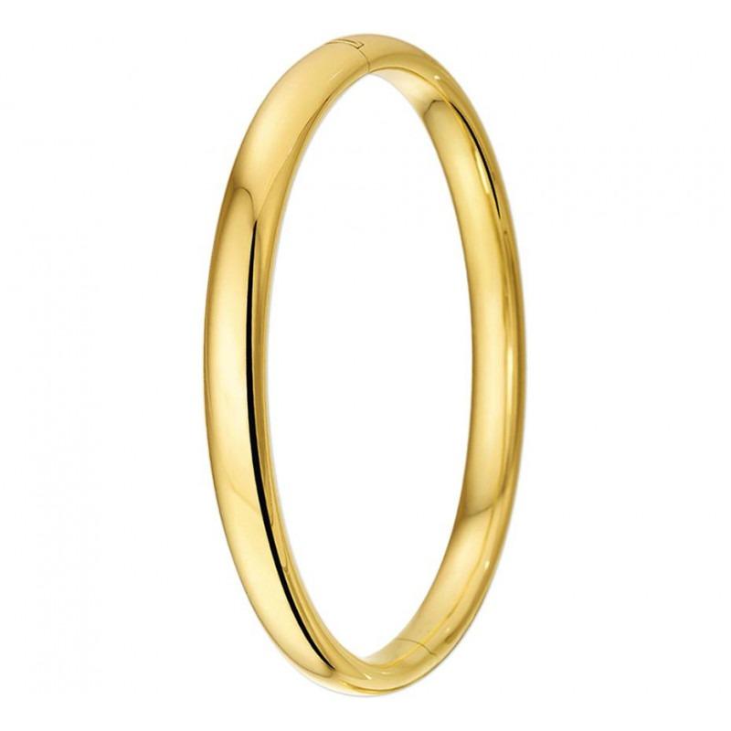 Ovale slavenarmband goud 7 mm