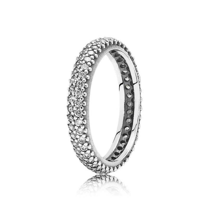 PANDORA glinsterende gedraaide ring 190909CZ