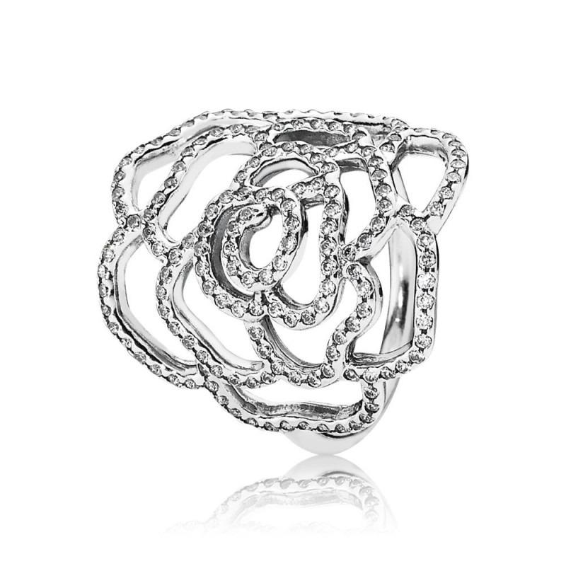 PANDORA glinsterende ring met roos 190950CZ