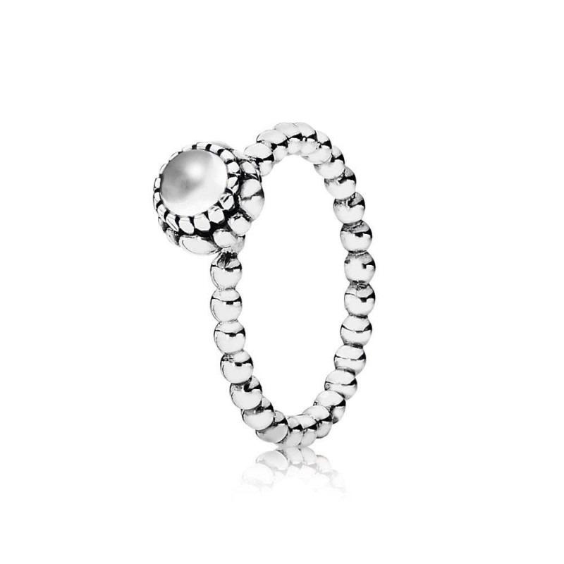 PANDORA ring met geboortesteen april 190854BK