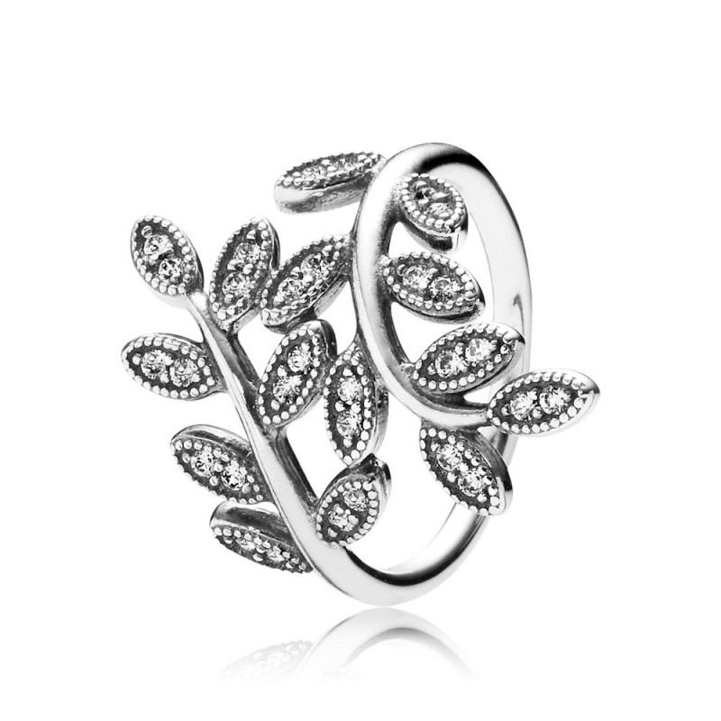 PANDORA ring met glinsterende bladeren 190921CZ