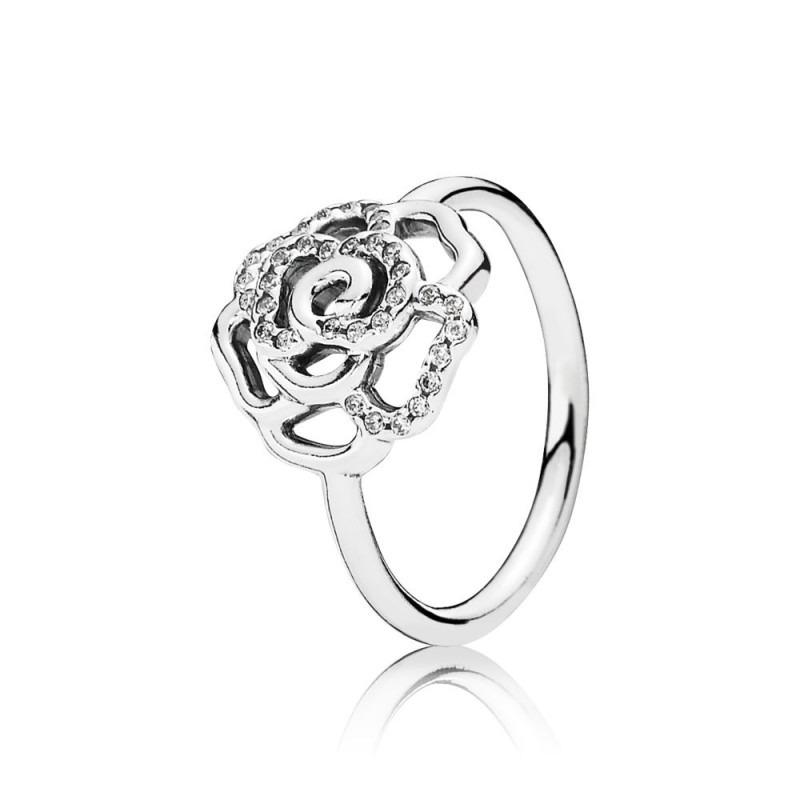 PANDORA ring met glinsterende roos 190949CZ