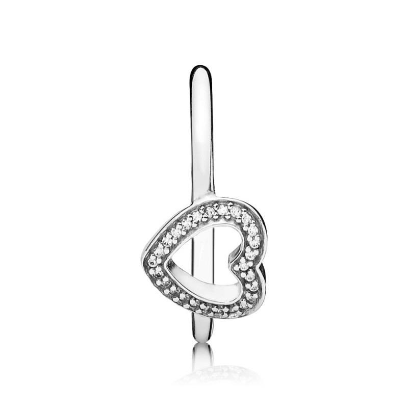 PANDORA ring met hart 190861CZ