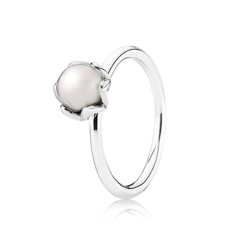 PANDORA ring met parel 190865P