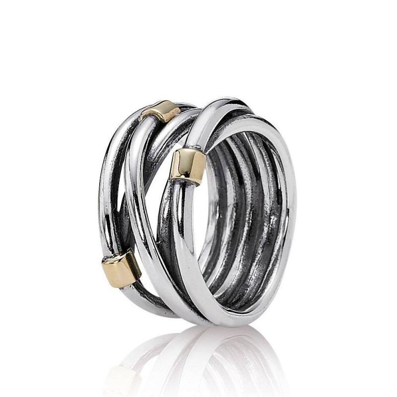 PANDORA ring met verweven strengen 190383