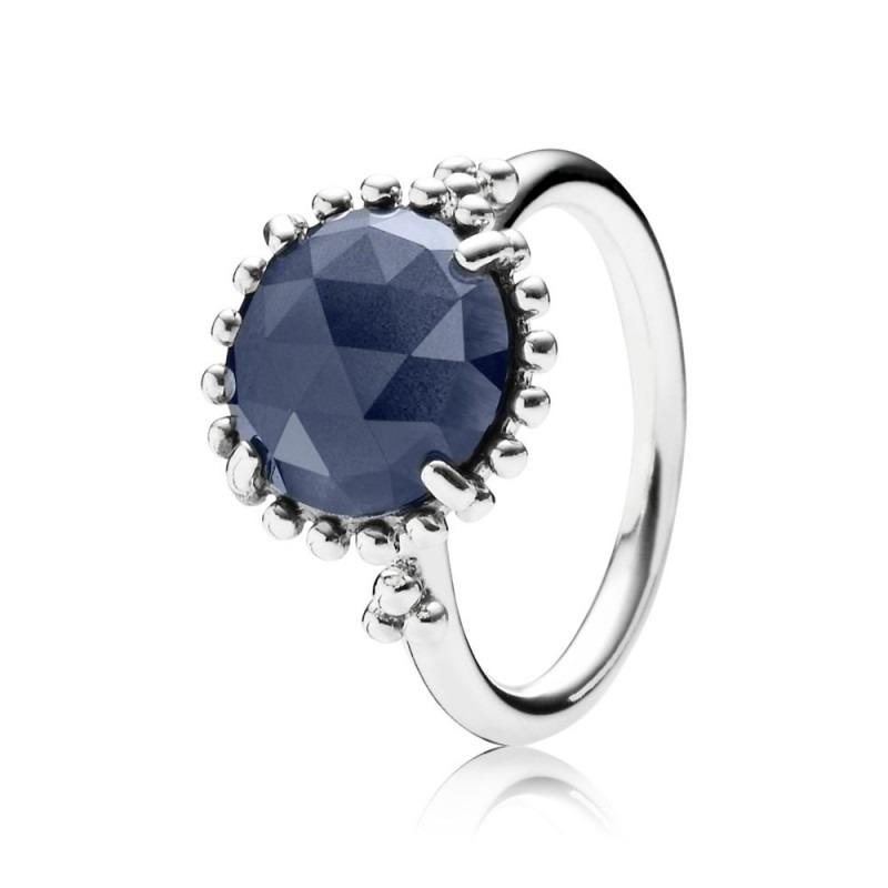PANDORA ring nachtblauw kristal 190910NBC