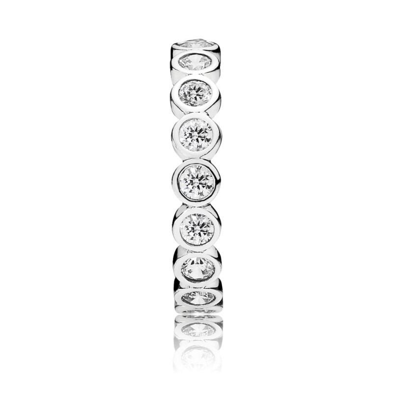 PANDORA zilveren ring met grote ronde eternity en zirkonia 190942CZ