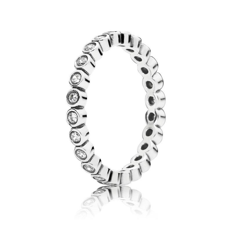 PANDORA zilveren ring met kleine ronde eternity en zirkonia 190941CZ