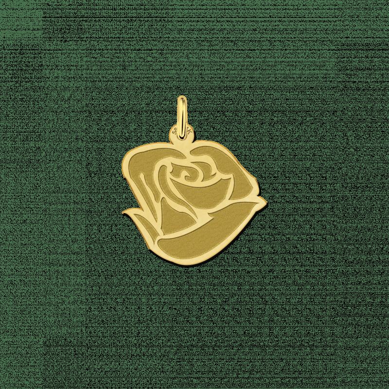 Gouden roos hanger