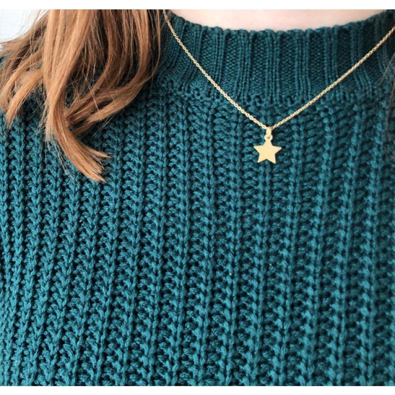 Gouden ster hanger met of zonder ketting