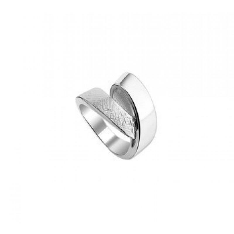 Zilveren dames ring glans en mat