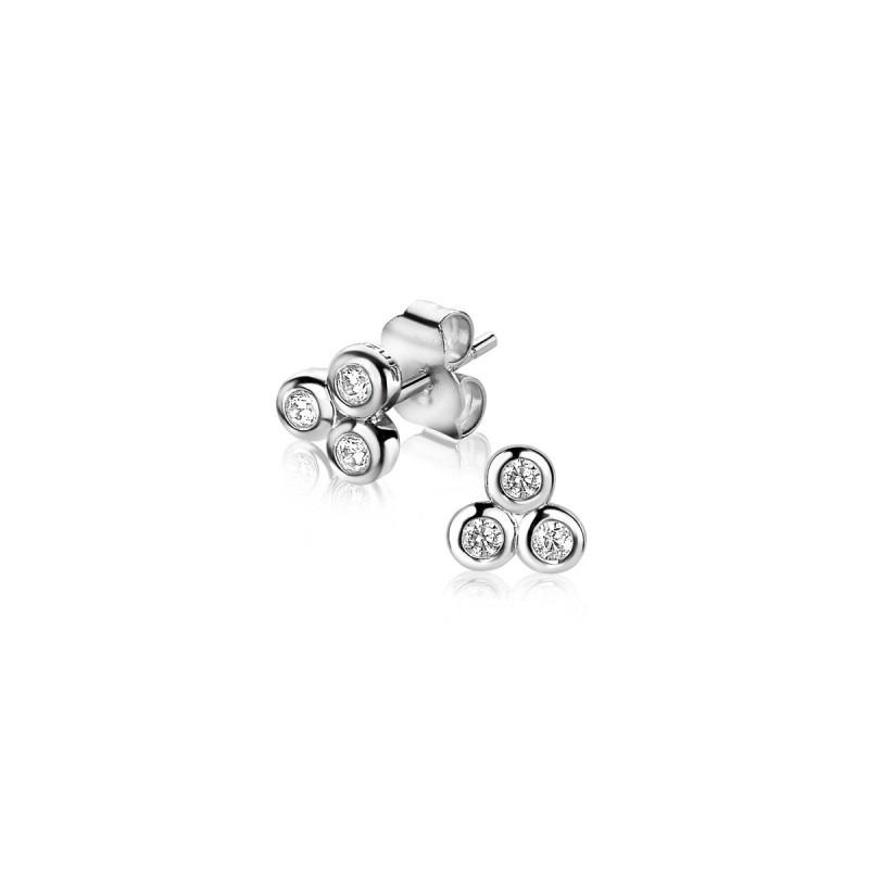 Zinzi zilveren driehoek oorbellen ZIO1442