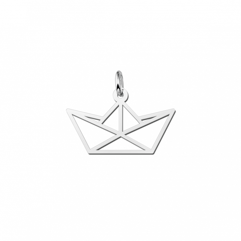 Geometrische hanger van zilver boot