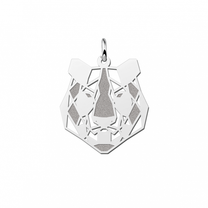 Geometrische hanger van zilver tijger