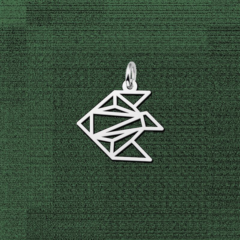 Geometrische hanger van zilver vis