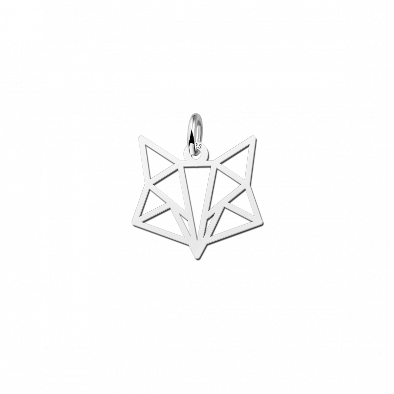 Geometrische hanger van zilver vos