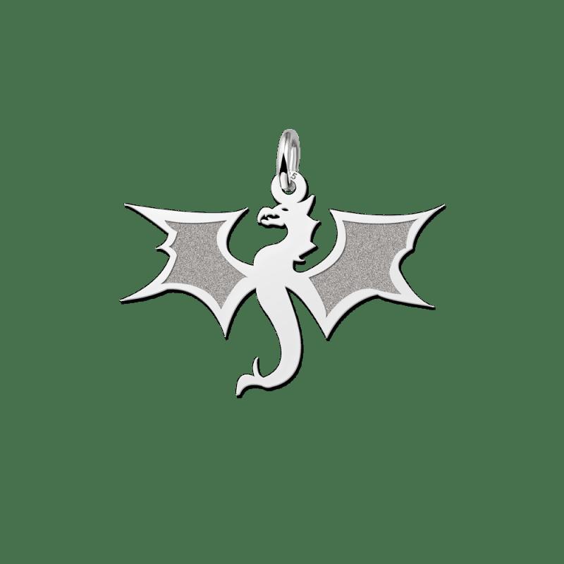 Zilveren draak hanger