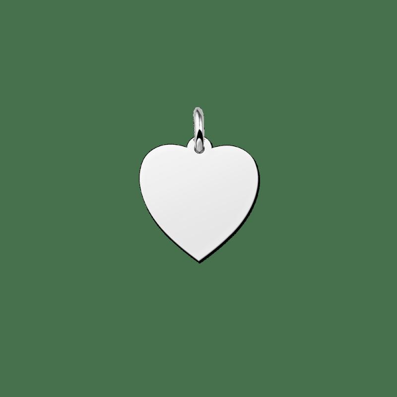 Zilveren hartje hanger