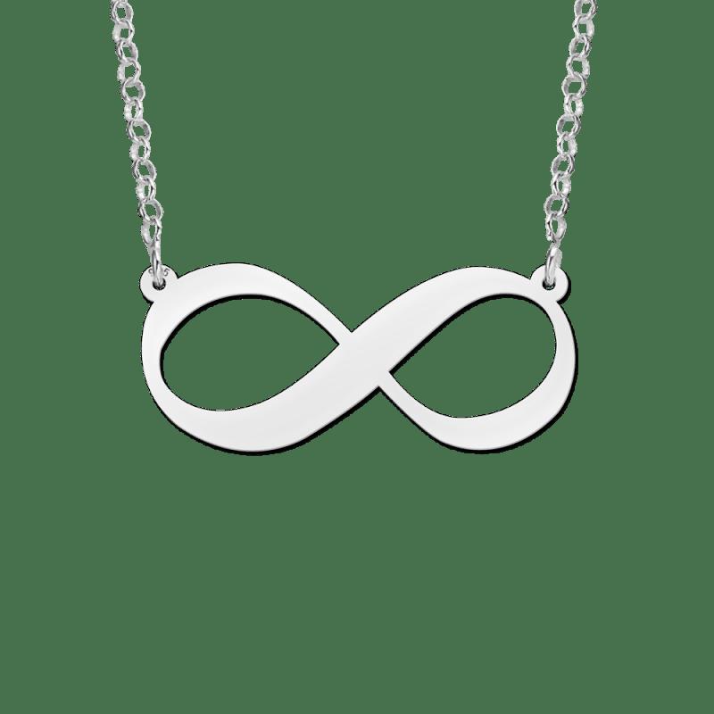 Zilveren infinity ketting