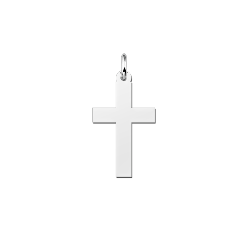 Zilveren kruis hanger