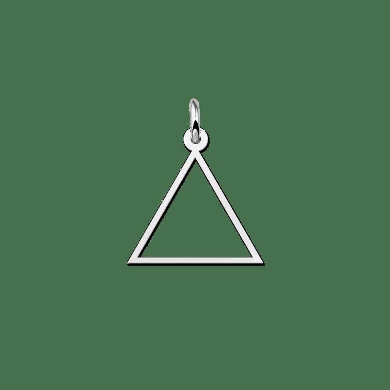 Zilveren open driehoek hanger