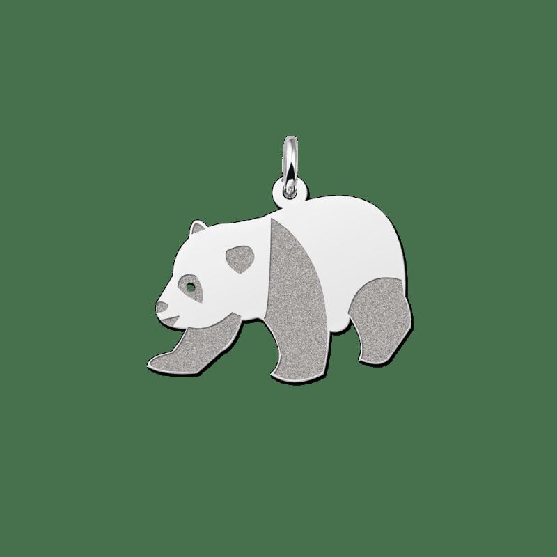 Zilveren panda hanger