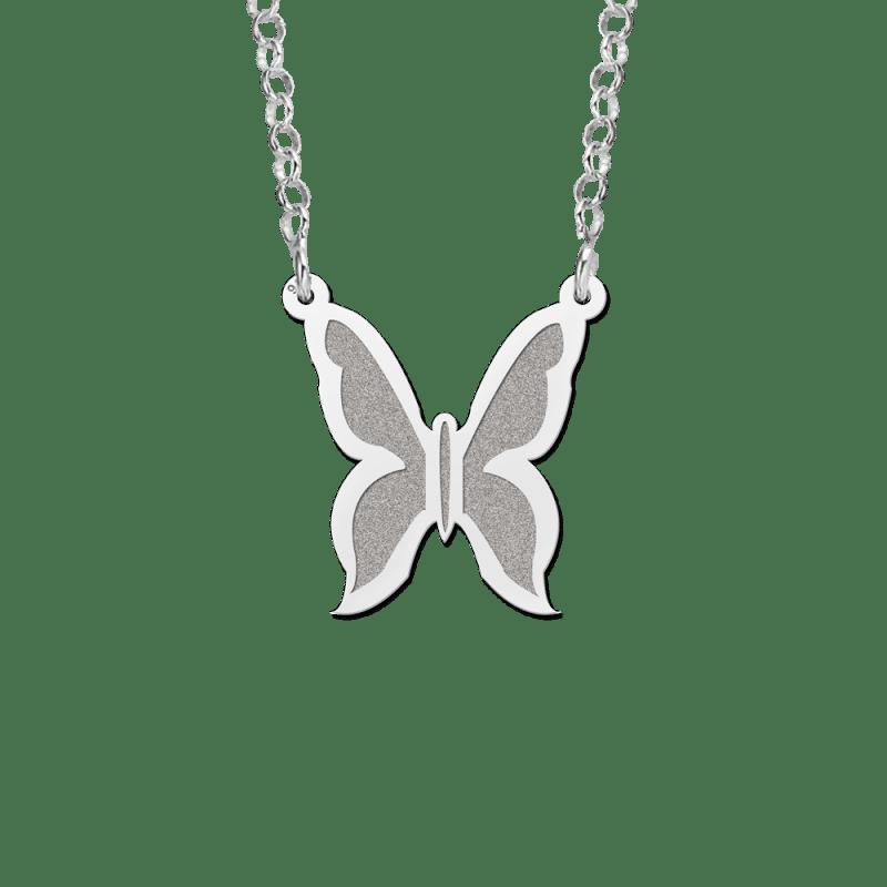 releasedatum welbekend Britse winkel Zilveren vlinder hanger inclusief ketting