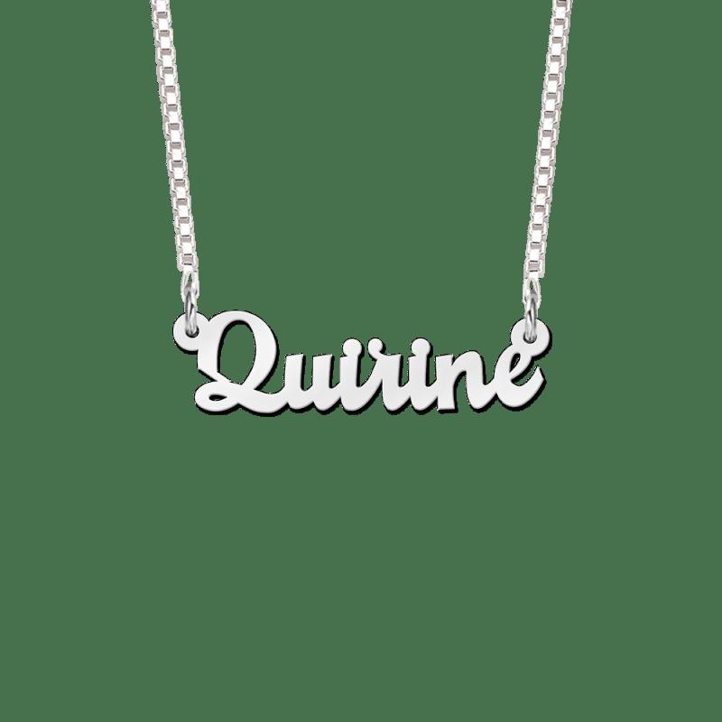 Naam ketting van zilver Quirine