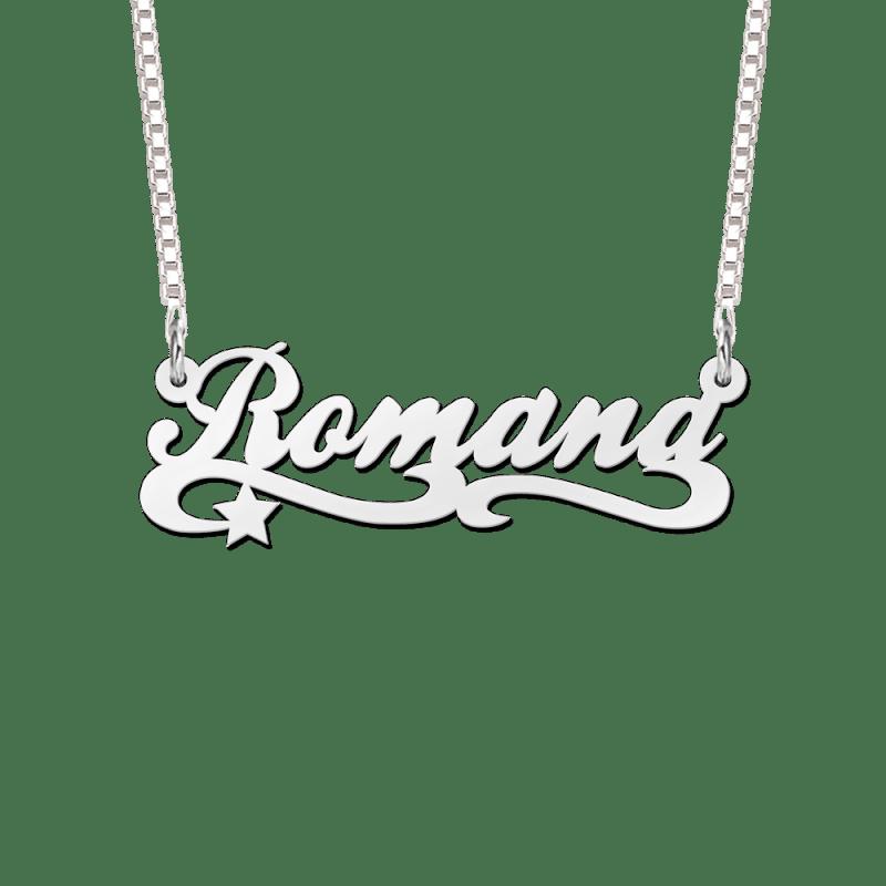 Naam ketting van zilver voorbeeld Romana