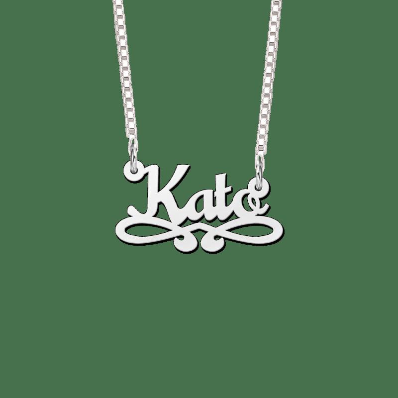 Naamketting van zilver voorbeeld Kato