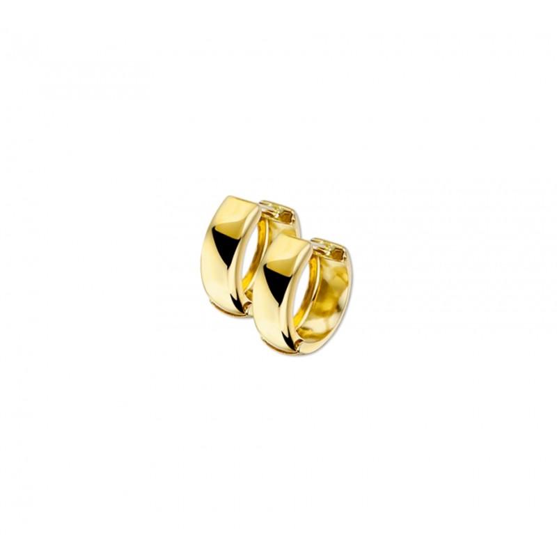 Nette gouden klapcreolen 5 mm breed